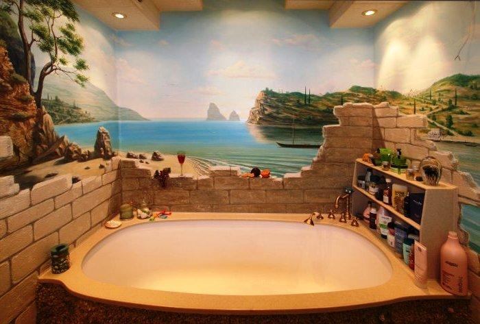 рисунок в ванной