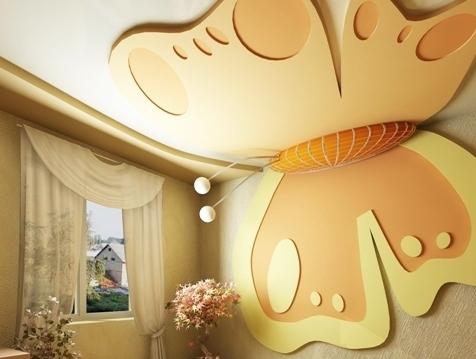 Красивый гипсокартонный потолок