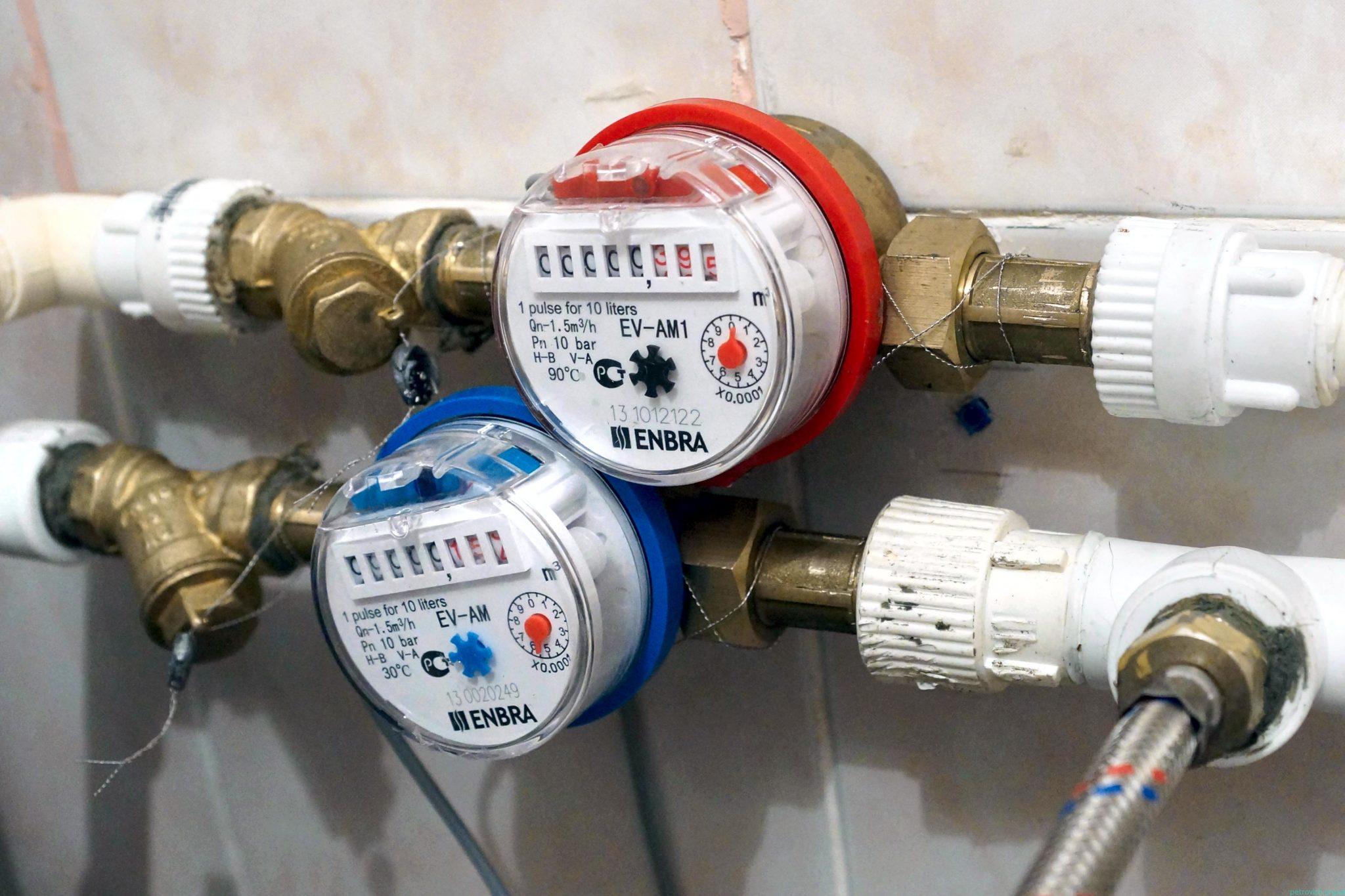 Схема установки счетчика воды в квартире 64