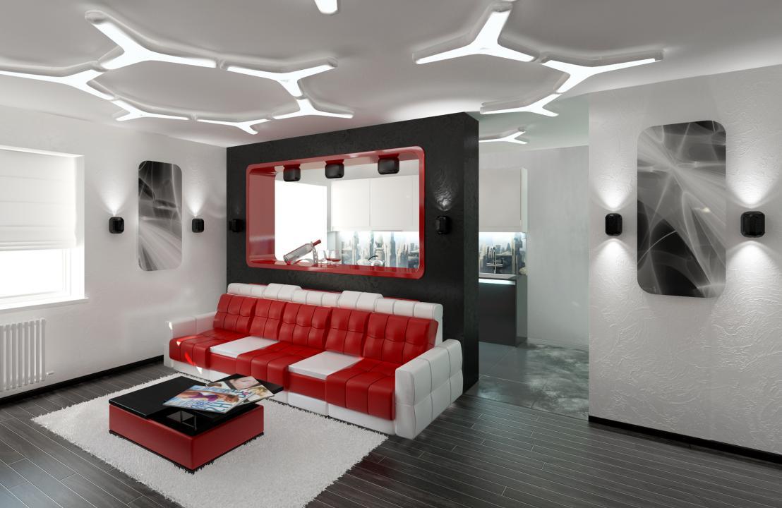 Дизайн интерьера в стиле хай тек фото